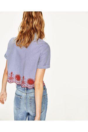 Mujer Camisas y Blusas - Zara CAMISA CROPPED RAYAS