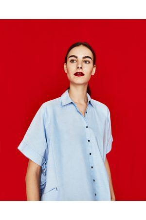 Mujer Camisas y Blusas - Zara CAMISA OXFORD VOLANTES