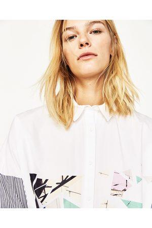 Mujer Camisas y Blusas - Zara CAMISA MANGA RAYAS