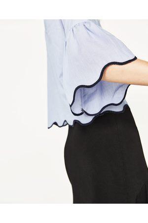 Mujer Camisas y Blusas - Zara CUERPO RAYAS ONDA BAJO