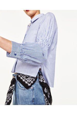 Mujer Camisas y Blusas - Zara CAMISA CROPPED DE RAYAS