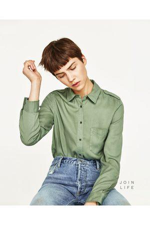 Mujer Camisas y Blusas - Zara CAMISA TRABILLA HOMBRO - Disponible en más colores