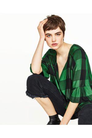 Mujer Camisas y Blusas - Zara CAMISA CUADROS