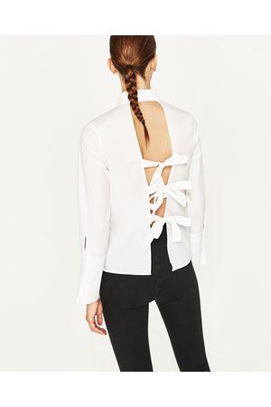 Mujer Camisas y Blusas - Zara CAMISA LAZOS ESPALDA