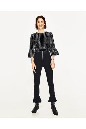 Mujer Camisas y Blusas - Zara CUERPO LUNARES MANGA VOLANTE