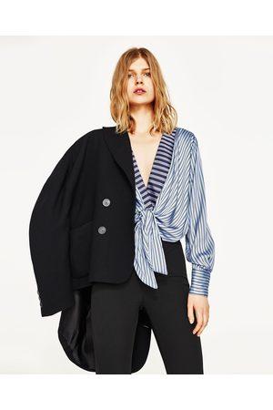 Mujer Camisas y Blusas - Zara BODY RAYAS CON NUDO FRONTAL - Disponible en más colores
