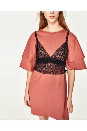 Mujer Camisas y Blusas - Zara CUERPO CORTO ENCAJE