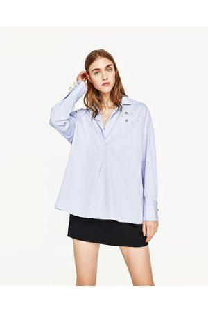 Mujer Camisas y Blusas - Zara CAMISA POLO PERLAS