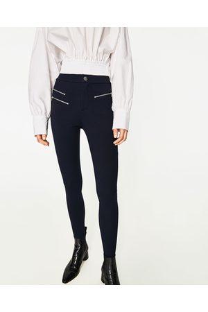 Mujer Leggings y treggings - Zara LEGGING DOBLE CREMALLERA - Disponible en más colores