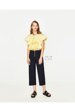 Pantalones Anchos Y De Harem de mujer Zara tienda online ¡Compara ... 26d23e51bd3d