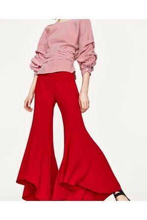 Mujer Pantalones y Leggings - Zara PANTALÓN FLARE ASIMÉTRICO