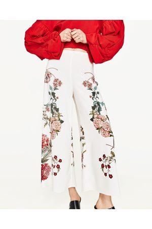 Mujer Pantalones y Leggings - Zara PANTALÓN ESTAMPADO FLORES