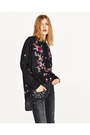 Mujer Jeans - Zara JEANS TIRO MEDIO PERLAS