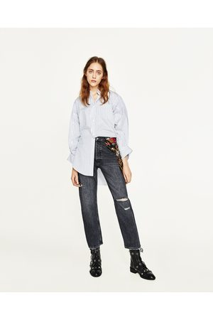 Mujer Jeans - Zara JEANS TIRO ALTO CON PAÑUELO ESTAMPADO