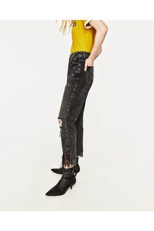 Mujer Jeans - Zara JEANS MOM FIT TIRO ALTO