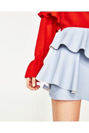 Mujer Faldas - Zara MINI FALDA EFECTO PIEL VOLANTE - Disponible en más colores