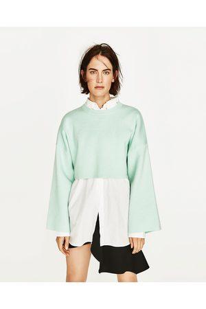 Mujer Sudaderas - Zara SUDADERA CROP MANGA ANCHA - Disponible en más colores
