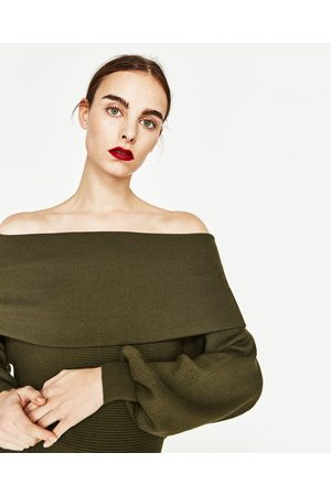 Mujer Zara JERSEY ESCOTE BANDEAU - Disponible en más colores
