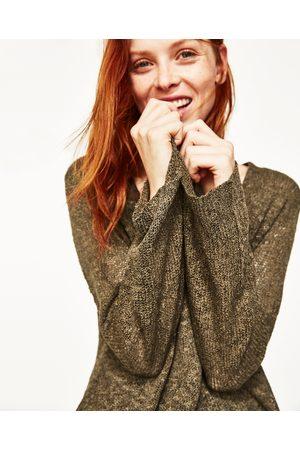 Mujer Zara JERSEY ESCOTE PICO - Disponible en más colores