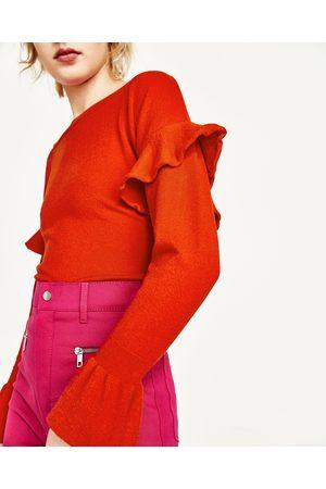 Mujer Zara JERSEY VOLANTES - Disponible en más colores
