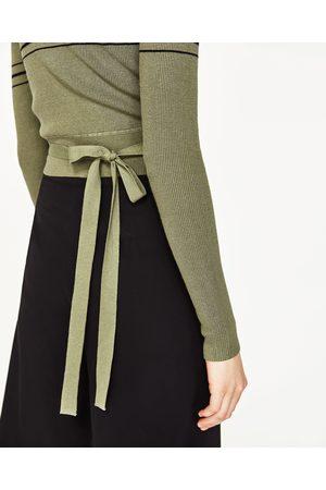 Mujer Zara JERSEY CROPPED RAYAS - Disponible en más colores