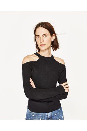 Mujer Zara JERSEY HOMBROS CUT OUT - Disponible en más colores