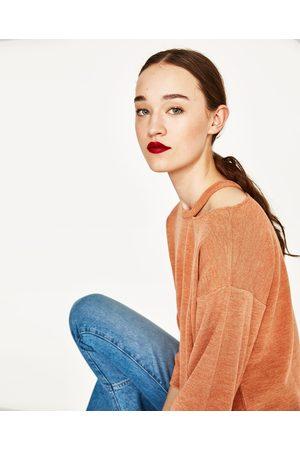 Mujer Sudaderas - Zara JERSEY CUELLO CUT OUT - Disponible en más colores
