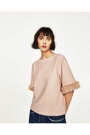 Mujer Sudaderas - Zara CUERPO DETALLE MANGA - Disponible en más colores