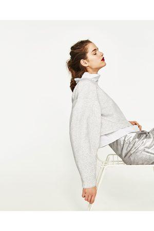 Mujer Sudaderas - Zara SUDADERA CROP - Disponible en más colores