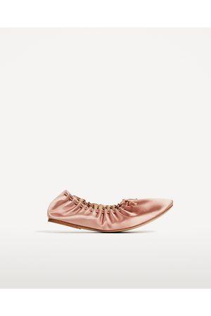 Mujer Zapatos - Zara BAILARINA SATÉN SOFT