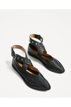 Mujer Zapatos - Zara BAILARINA PIEL HEBILLA