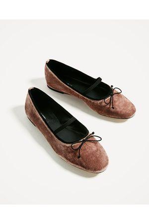 Mujer Zapatos - Zara BAILARINA TERCIOPELO CINTA