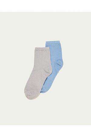 Mujer Calcetines - Zara PACK 2 CALCETINES BRILLO RIB - Disponible en más colores