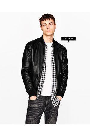 Chamarras De Piel de hombre Zara tienda online ¡Compara ahora y ... eb0b7033eac