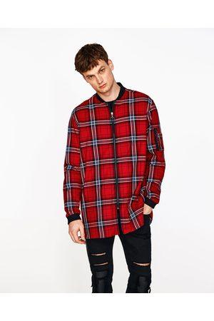 Hombre Camisas y Blusas - Zara CAMISA BOMBER CUADROS