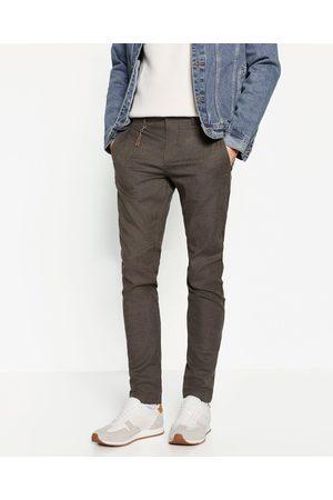 Hombre Pantalones y Leggings - Zara PANTALÓN ESTRUCTURA - Disponible en más colores