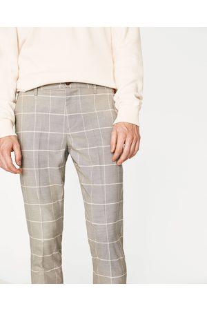 Hombre Pantalones y Leggings - Zara PANTALÓN CUADROS PERFIL