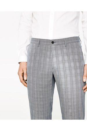 Hombre Pantalones y Leggings - Zara PANTALÓN TRAJE CUADROS