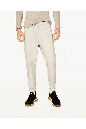 Hombre Pantalones y Leggings - Zara PANTALÓN JACQUARD PINZAS
