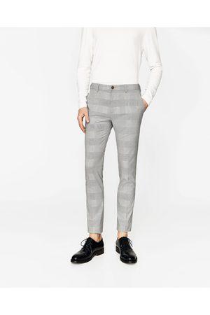 Hombre Pantalones y Leggings - Zara PANTALÓN CUADROS