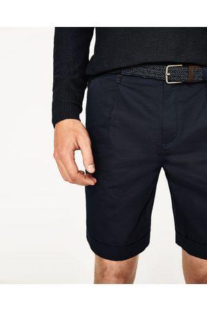 Hombre Bermudas - Zara BERMUDA CINTURÓN - Disponible en más colores