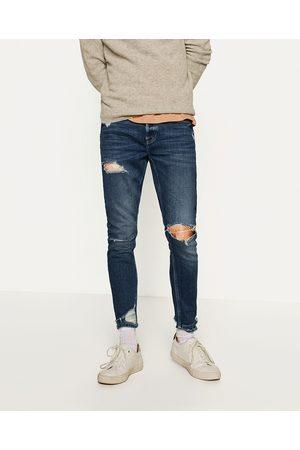 Hombre Jeans - Zara DENIM SKINNY RAW EDGE - Disponible en más colores