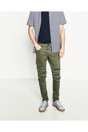 Hombre Jeans - Zara DENIM SKINNY ROTOS - Disponible en más colores