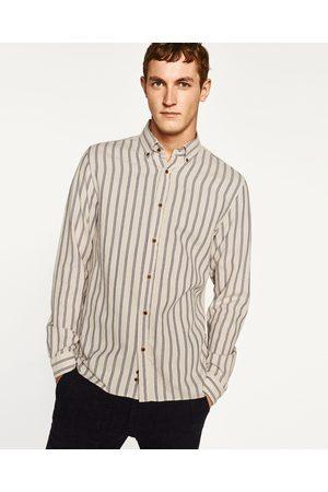 Hombre Camisas y Blusas - Zara CAMISA FRANELA RAYAS - Disponible en más colores
