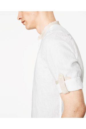 Hombre Camisas y Blusas - Zara CAMISA LINO SARDINETAS