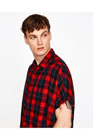 Hombre Camisas y Blusas - Zara CAMISA OVERSIZE CUADROS