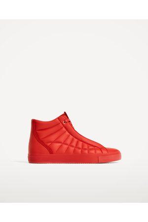 Hombre Zapatos - Zara DEPORTIVO ABOTINADO ROJO