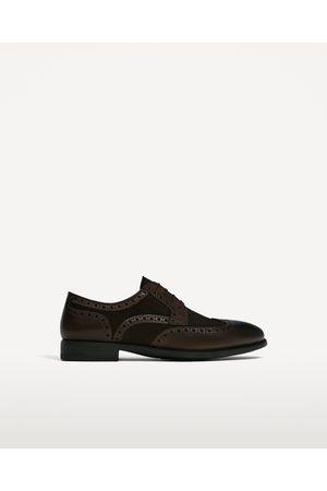 Hombre Zapatos - Zara ZAPATO PIEL MARRÓN COMBINADO