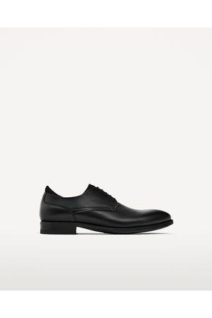 Hombre Zapatos - Zara ZAPATO PIEL LENGÜETA TEJIDO