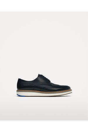 Hombre Zapatos - Zara ZAPATO PIEL AZUL CUÑA